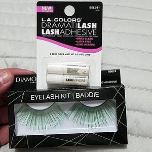 Green Eye Lashes